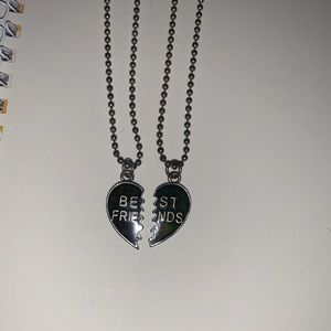 best friend heart necklace, mood changing
